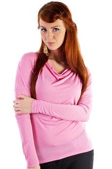 Розовая кофточка с длинным рукавом Mondigo