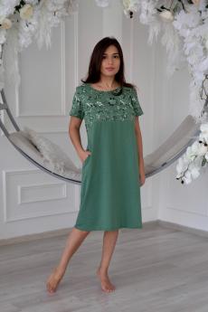 Зеленое свободное платье с карманами Lika Dress