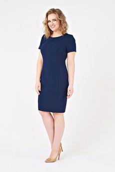 Темно-синее платье-футляр Paola Rossi со скидкой