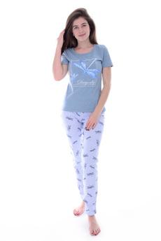 Голубая пижама со стрекозами Malina
