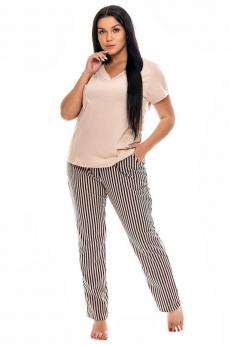 Пижама с полосатыми штанами Кетлен